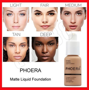 PHOERA face makeup Full Coverage Foundation Soft Matte Liquid Makeup Base Natural Oil-controlling Lightweight Feel Face Make Up Concealer