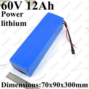 GTK 60v unicycle battery pack li-ion 60v 12ah lithium ion electric scooter battery 60v 12ah for skateboard 500w 900w + charger
