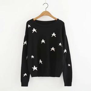 Liva 스타 니트 풀오버 팜므 스웨터 여성 긴 소매 O 목 여성 스웨터 2018 겨울 가을 겉옷 sueter mujer