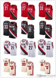 Men Women YouthPortlandTrailBlazers21 Hassan Whiteside 27 JusufNurkic 33 ZachCollins custom Basketball Jersey