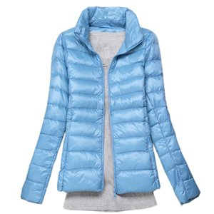 New Brand 90% White Duck Down Ultra Light Jackets Women Autumn Winter Down Jacket Coat Female Zip Pocket Jacket Parkas