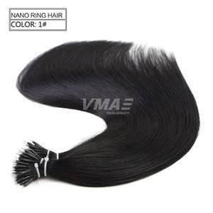 VMAE Lordo umani vergini di Remy di estensioni dei capelli lisci europea un donatore cuticola Allineati doppio Drawn Micro Loop Nano Anello