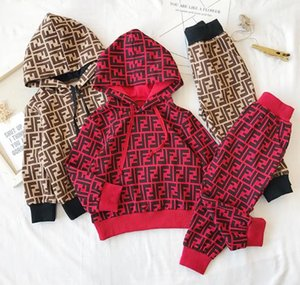 A002 Kids Designer Clothing Sets New Luxury Print Tracksuits Fashion Letter Jackets + Joggers Casual Sports Style Sweatshirt Boys Girls