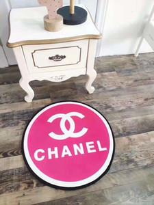 Yaratıcı tasarım harfler yuvarlak paspas 60cm halı oturma odası yatak odası kapı mat mutfak kalın kaymaz banyo paspası