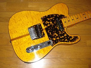 New Rare guitarra Príncipe HS Anderson Madcat Mad Cat Tele Flame Bege Top Relic Amarelo TL guitarra elétrica Abalone Leopard Pickguard Encadernação