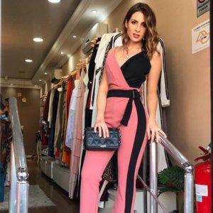 New Fashion Spring 2020 Women's jumpsuit dress V neck long style condole belt 3-Colores selected Size S-XL