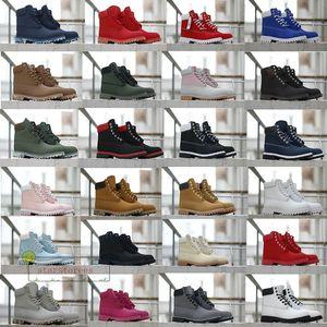 Bottes d'hiver Chaussures en cuir Designer Hommes Femmes Bottines Jaune Rouge Bleu Noir Rose sport Chaussures de sport en gros Taille 36-47