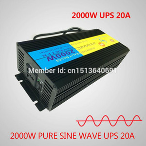 Freeshipping pure sine wave 2000W 4000W(peak) 24v to 220v 230v 240v Power Inverter+Charger & UPS,Quiet and Fast Charge