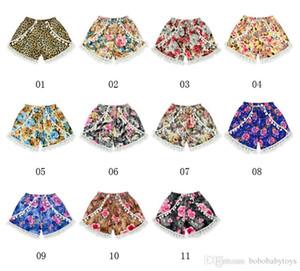 11 styles Baby hairball Tassel shorts Fashion leopard print underpants designed for 2-10T midsized children kid girls