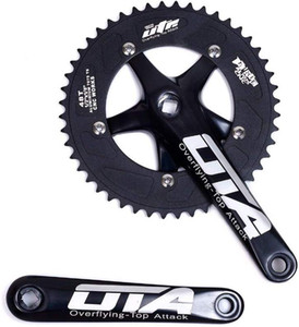Vélo à vélo à vélo Single Crankset Chainez 170mm Bras de manivelle 130 BCD CHAUCHE DE LA CHAUCHE 48T FORMIE CRANKSET POUR Vélo à une seule vitesse, Vélo à moteur fixe