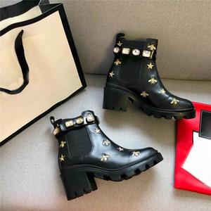 2019 sapatos femininos marca de moda de couro de alta qualidade e solas pesadas confortável respirável lazer senhora designer botas tamanho 35-40
