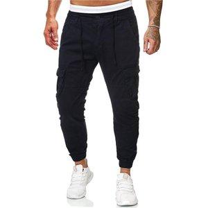Mulit intasca il progettista del mens pantaloni di modo mens dei tasti Cargo Pants Pantaloni caviglia Banded Maschio Abbigliamento