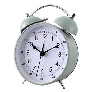 Classique Rétro double sonnette d'alarme Horloges non coutil balayage analogique matin réveil pour les enfants