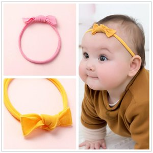 New Fashion Candy Color Nylon Headbands For Girls DIY Bow Hair Ties Elastic Hair Band Seamless Headwear Baby Accessories