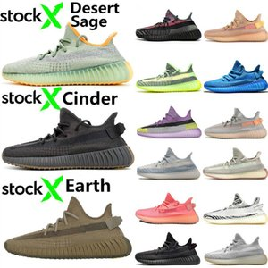 Kanye West Desert Sage Earth Cinder Running Shoes Zyon Yecheil Yeshaya Flax Linen Zebra Bred Gid Cream Bred Static Mens Trainers sports shoe