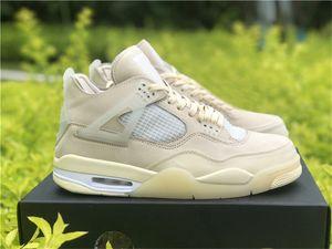 2020 nouveaux Authentic Blanc 4 SP WMNS Voile Bred Chaussures de basket Homme Muslin Blanc Noir Zapatos Sneakers Virgil Abloh Avec boite d'origine