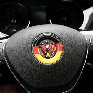 Car Styling Lenkrad-Emblem-Aufkleber für Volkswagen Polo Tiguan Touran Passat B5 B6 B7 Golf 4 5 6 7 Jetta MK5 MK6