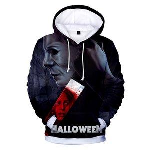 2020 Michael Myers Halloween Hoodie Mens Hip Hop Hoodies Plus Size 3D Tie Dyeing Man Hoodies Long Sleeve Hoody Erkek Sweatshirt