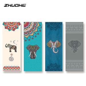 ZHUOHE Hot Yoga Mat Toalla antideslizante de la yoga Impreso Digital Manta diamante tela escocesa de microfibra para viajes Bikram Pilates fitness