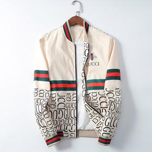 Белые люди роскоши дизайнера зима Бомбардировщик куртка пилот бомбер ветровка припуск верхняя одежда случайного мужской одежда Пальто Пальто Вершина плюс