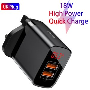 Brand Authentic UK Quick Charge 3.0 USB Charger 18W PD Fast Phone Charger with FCP AFC for Huawei P30 Pro Samsung S10 iPhone 11 Pro Xr
