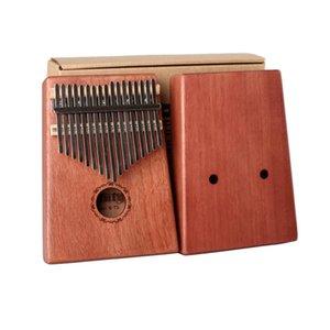 GECKO 17 Keys Kalimba Mbira Acacia Mahogany African Thumb Piano Keyboard Instrument Tuning Hammer+manual+sticker+cleaning Cloth