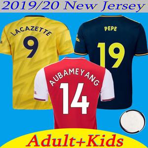 2020 아스날 홈 빨간색 멀리 노란색 축구 유니폼 19/20 셋째 깊고 푸른 리그 클럽 축구 셔츠 남성 여성 KIDS 사용자 정의 축구 유니폼