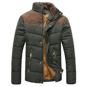 Winter Jacket Men Warm Causal Parkas Cotton-padded clothes Collar Winter Jacket Male Overcoat Outerwear