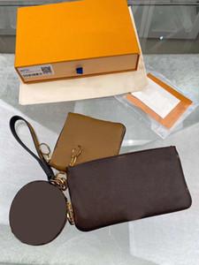 donne di lusso L borse di frizione Borse borse borse a mano borsa della moneta portafoglio donne borsa progettista 2020 nuovo stile con le 3pcs lettera di fiori / set