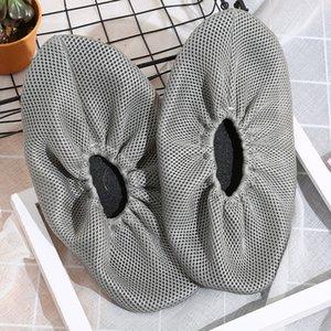 1pair pano sapatos capa lavável reutilizável Household Grosso malha gaze anti-derrapante Tampa da sapata de inicialização Covers Mulheres Homens botas de chuva