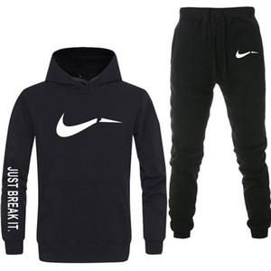 Erkek Eşofman Yeni Moda Ceket Of 2 Takım Spor erkek 'S Sweatpants Hoodies İlkbahar Ve Sonbahar erkek Marka Hoodies Pantolon M-2XL