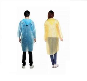 Одноразовый пластиковый дождевик Одноразовые PE Плащи дождевики пончо Одноразовая дождь Wear Отдых на природе Путешествия дождевик Открытый дождевики