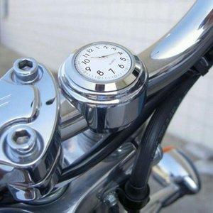 """Clocks 7/8 \"""" Universal motocicleta guiador Assista aperto de mão Waterproof Bar Monte Dial Top Mount relógio para Scooter Bicicleta Motor Bike ATV"""