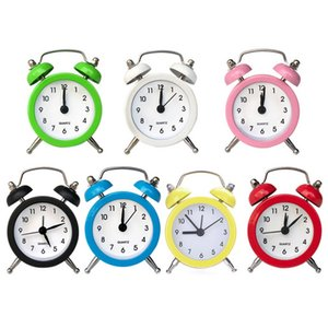Creative High Quality 50mm Mini Alarm Clock Travel Bell Alarm Clock Analog Desk Clock with Bell Camping Outdoor Tools Small