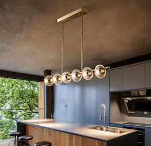 Copper Luxury Living Room Chandeliers LED Multi-Head LED Postmoderno Nuevo Iluminación Accesorios Colgantes Villa Lobby Crystal Art Chandelier Myy