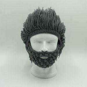 Peruk Sakal Şapka hobo Mad Scientist Rasta Caveman El yapımı Örgü Sıcak Kış Erkekler Kadınlar Cadılar Bayramı Hediye Komik Parti stockUS içinde takkelerden Maske Caps