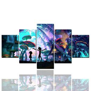 Floresta mágica, Emoldurado 5 Painel de Arte Da Parede Pintura A Óleo Pura Decoração de Casa Moderna Decoração de Parede Paisagem Arte Pintura A Óleo Sobre Tela