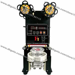 Бесплатная доставка 95мм 90мм настольный 110В 220В электрический автоматический Боба пузырь чайная чашка герметизирующая машина уплотнитель