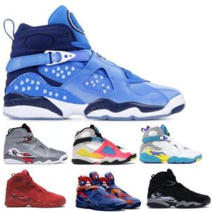 Jumpman 8 8s Mens Basketball Shoes Snow Snowflake Chrome Valentines Day Reflections Captain Bugs Bunny Yellow 2020 New Arrival Trainer Shoes