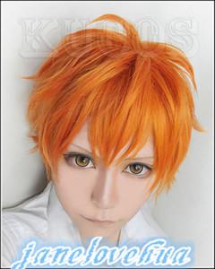 Voleibol juvenil peruca cosplay curto orange peruca + frete grátis