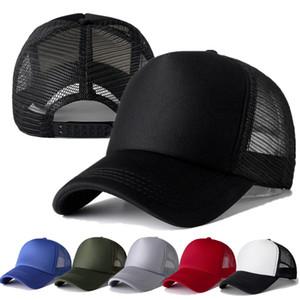 Unisexe Cap Casual plaine de camionneur de maille Casquette réglable Casquette de baseball Snapback chapeaux pour femmes Hommes Hip Hop Hat en gros au détail