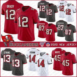 Tampa12 Tom Brady Bayfútbol del jersey de Buccaneer87 Rob Gronkowski 14 Chris Godwin 45 13 Devin White Mike Evans cosido jerseys
