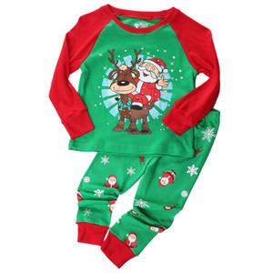 Pudcoco 1-7Y 2PCS عيد الميلاد للأطفال فتى البيجامة نقابة الصحفيين الفلسطينيين الطفل مجموعة كيد الخضراء ملابس عيد الميلاد بابا نويل مجموعة ملابس طفل رضيع الملابس