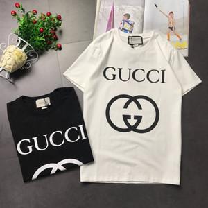 los hombres y de las mujeres del diseñador T tendencia de la moda Camisetas para hombre de las tapas de tela de manga corta cuello redondo de algodón Audell tamaño británico tricolor sunmmer Teese