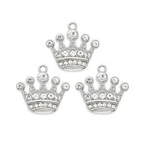 Crystal Crown Hanging catena del pendente fascino Rotating catenaccio Bracciale Floating Locket chiave ciondola fascino del sacchetto per la produzione di accessori gioielli