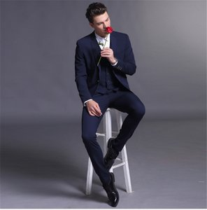 Mode Anzug der neuen Männer Anzug der Männer dreiteiligen Anzug (Jacke + Hose + Weste) Hochzeit Bräutigam Groomsmen Kleid Ball Parteikleid benutzerdefinierte