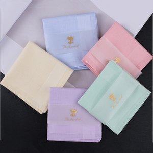 1Pcs lot Men and women handkerchief towel 100% cotton new handkerchief colored solid color towel handkerchief textile fabrics
