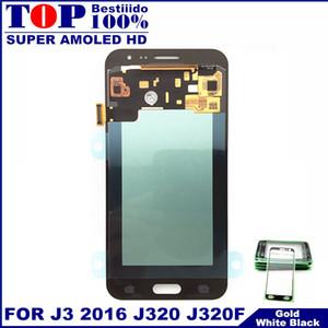 100% Super AMOLED LCD pour Samsung Galaxy 2016 J320 J320F J3 J320H J320M J320FN écrans LCD Avec écran tactile Digitizer Assemblée
