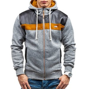 Fashion Mens Zipper Winter Coats Jackets Long Sleeve Fleece Cardigan Male Hooded Slim Padded Designer Jacket Men 3 Colors