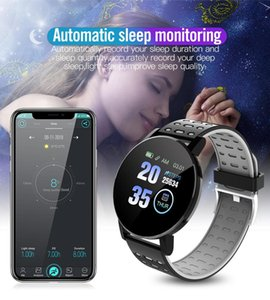 119plus Round Screen Sport Smart Watches Waterproof Heart Rate Monitor Fitness Tracker Informaition Reminder Women Bracelet Men Smartwatch